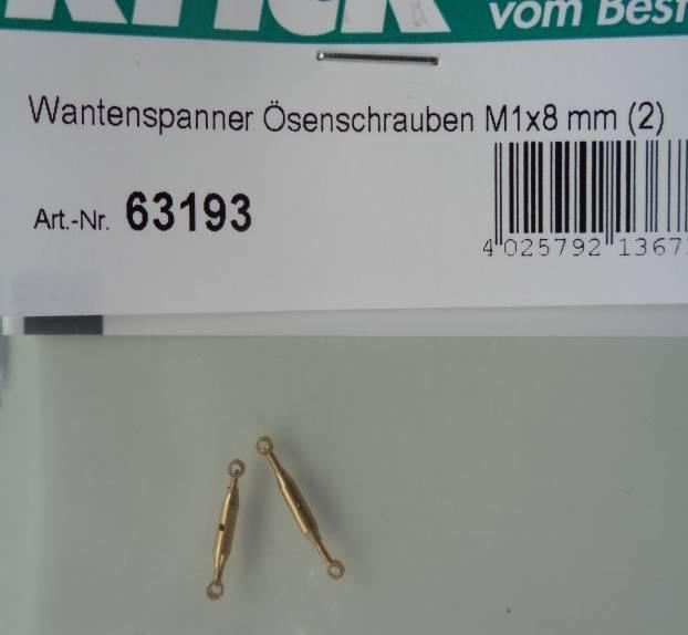 Wantenspanner mit Ösenschrauben M 1x8 mm (2)