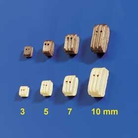 Doppelblöcke 3mm (10 Stück)