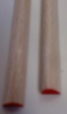 Balsa-Nasenl., rot, Querschn./Ø  8 x 10 mm, 1 m lang