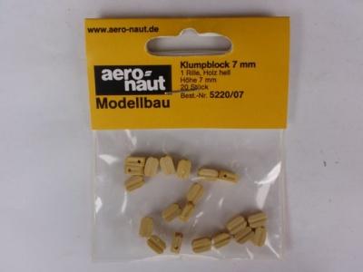 Klumpblock (Holz), hell, 7 mm