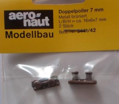 Doppel-Poller 7 mm (Metall brüniert), 2 Stück