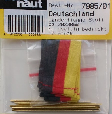 FLAGGE DEUTSCHLAND (Seide), beidseitig bedruckt