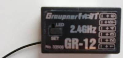 Empfänger GR-12 HoTT 2.4 GHz 6-Kanal