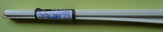 5 Stück Plastikprofil 3-Kant 90° 1000 x 3 mm