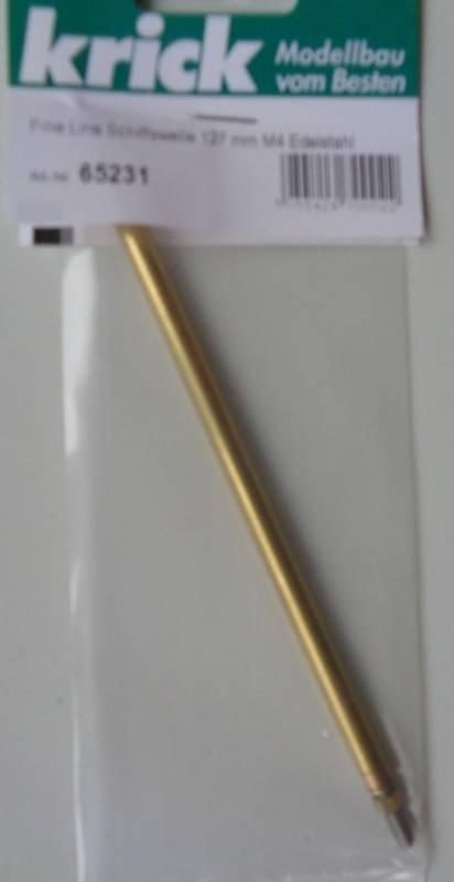 Fine Line Schiffswelle 127 mm, M4 Edelstahl