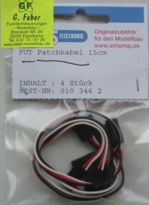 FUT Patchkabel , Länge 15 cm,   4 Stück