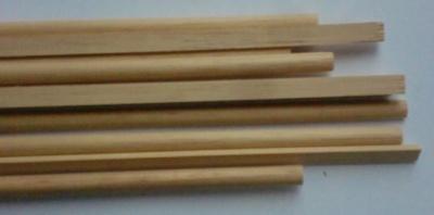 Halbrundstab Holz 2,5x5 mm, 1 m lang,   5 Stück