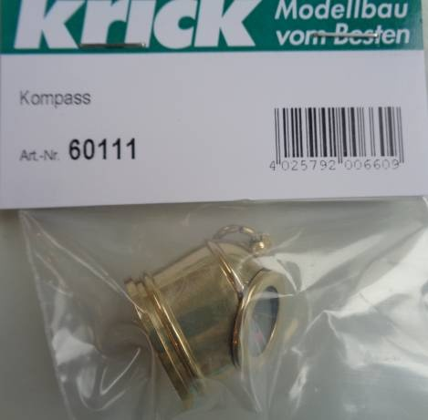 Kompaß, Ø 24 mm,  Gesamthöhe ca. 25 mm