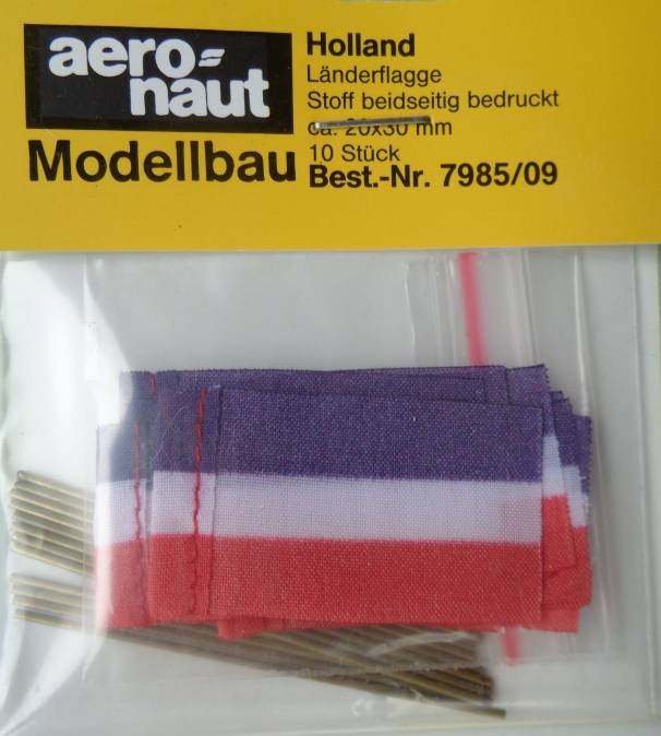 FLAGGE HOLLAND  (Seide), beidseitig bedruckt