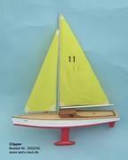 Clipper Segelboot, Länge 48 cm -
