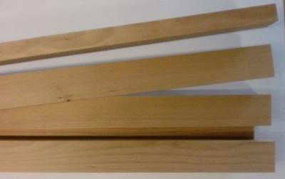 BUCHEN-Vierkantleisten 20 x 40 mm, 1 m lang, 10 Stück
