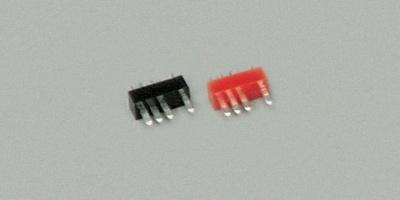 Stecker  4-polig, rot, 5 Stück