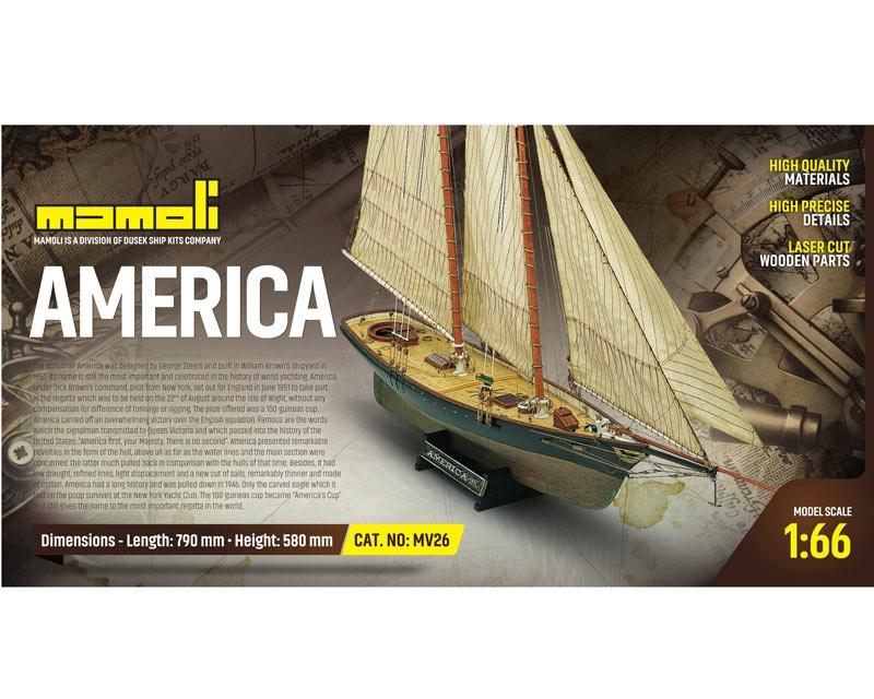America  Bausatz 1:66 Mamoli, Länge 79 cm