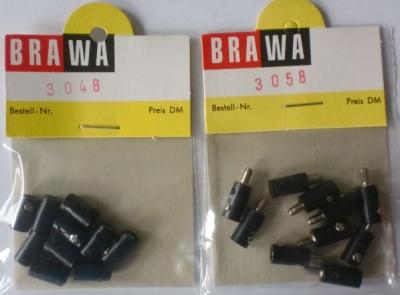 BRAWA-Schwachstrom-Buchsen+Stecker, schwarz, je 10 Stück