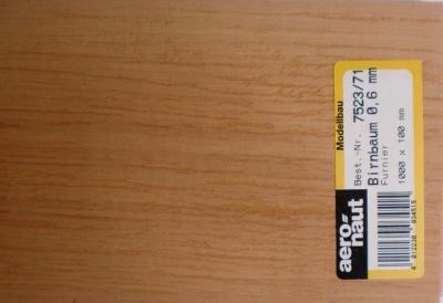 Birnbaum-Furnier 1000x100x0.6 mm, 1 Stück