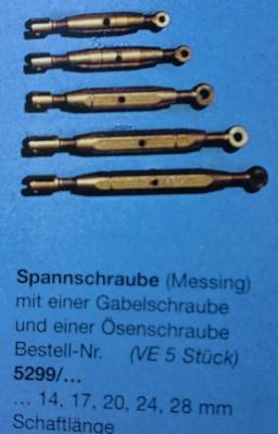 Spannschraube , Schaftlänge 14 mm