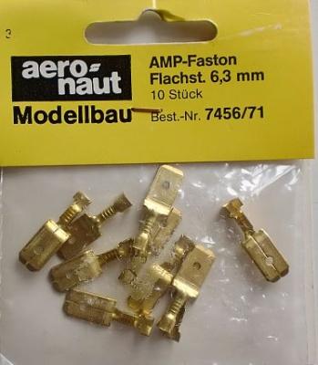 AMP-Faston-Flachstecker 6,3 x 0,8 mm, 10 Stück