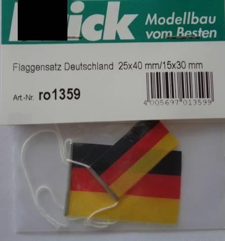 Flaggensatz Deutschland 25x40 mm/15x30 mm