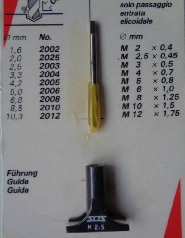 Einschnitt-Handgewinde-Bohrer mit Schälanschnitt