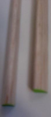 Balsa-Nasenl., hellgrün, Querschn./Ø 10 x 12 mm, 1 m lang