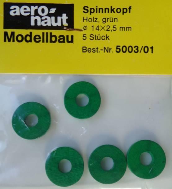 Spinnkopf Ø 14 x 2,5 mm, grün