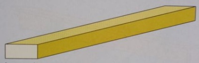 Messing-Vierkant-Profil 2 x 1 mm, 33 cm lang