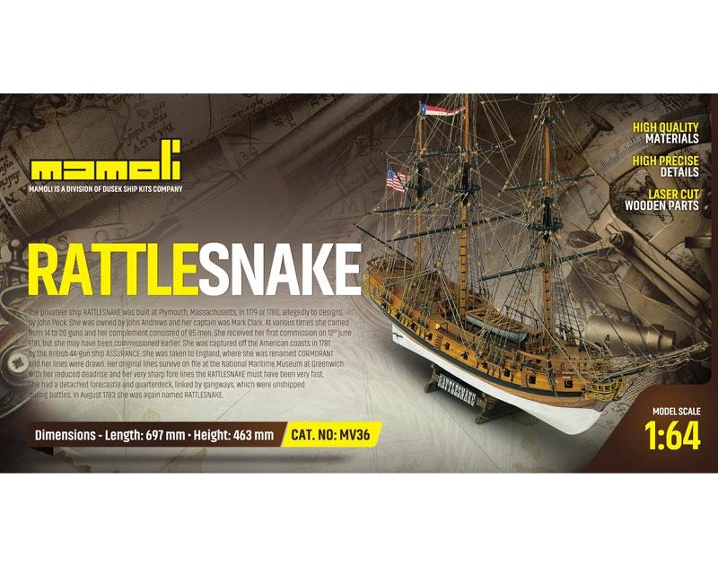 Rattlesnake Bausatz 1:64 Mamoli
