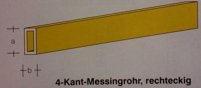 Messingrohre-rechteckig/Flachstahl