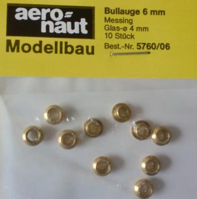 Bullauge Ms  Ø 6 mm, innen 4 mm, 10 Stück