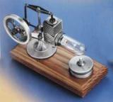 Mini-Stirlingmotor, altsilber gebürstet,  mont. -Heißluftm.-