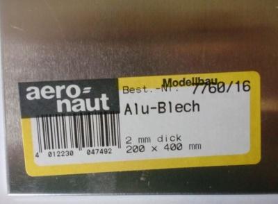 Alu-Blech 400x200x2.0 mm