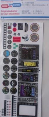 Klebebogen,  Cockpit-Instrumente A