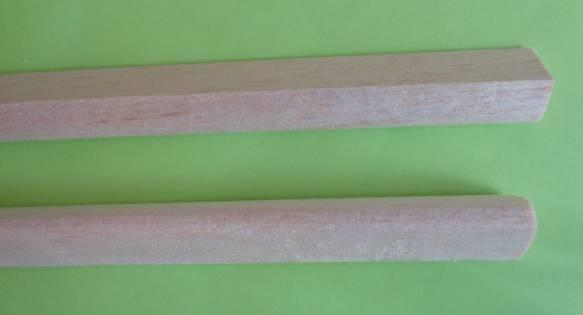 Balsa-Nasenleisten 16 x 19 / 1000mm,  4 Stück