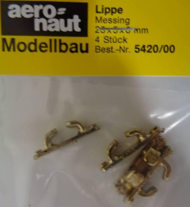 Lippe Messing 23 x 5 x 6 mm, 4 Stück