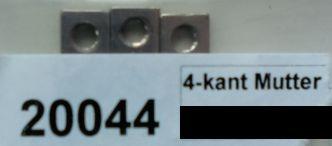 Vierkantmutter M 3,    -  6 Stück - lang 10Stü