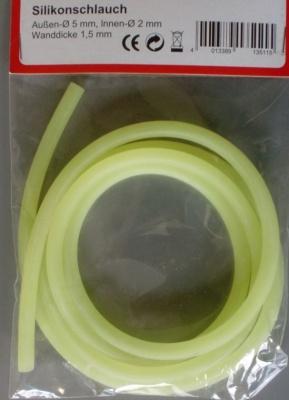 Silikonschlauch 5/2mm gelb