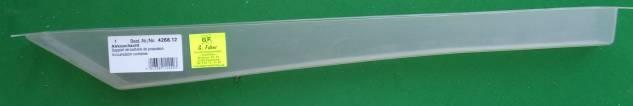 Akkuschacht, äußere Länge 49,4 cm,  innere Breite 2,5 cm