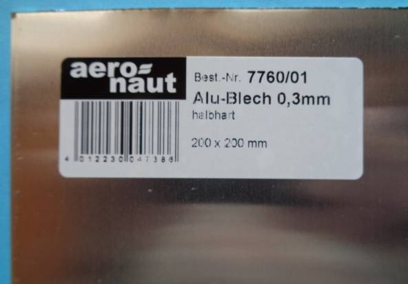 ALU-BLECH 200 x 200 x 0.3 mm