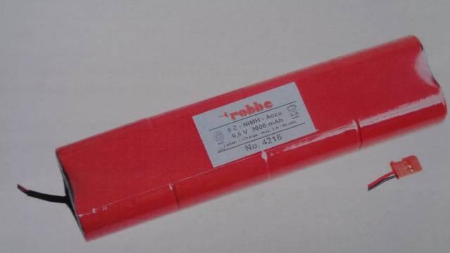 Senderakku 9,6 V, 8 NiMh,  3300 mAh f F-Serie