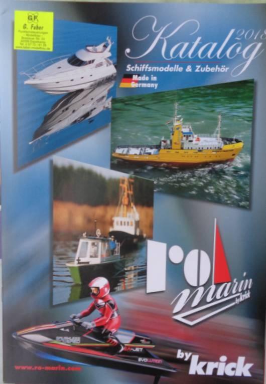 Krick-Neuheiten-Prospekt 2018 Schiffsmodell  Zubehör