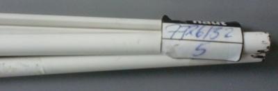 5 Stück Plastik-Profil, halbrund, Ø 7 mm, 1 m lg.