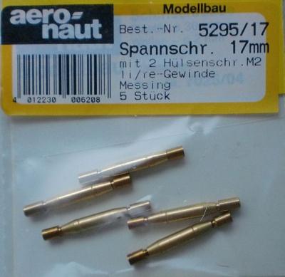 Spannschrauben (Messing) H/H 17 mm, 5 Stück