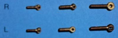 Ösenschrauben, Messing, Gewinde M 1,4 mm, 10 Stück