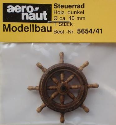 Steuerrad Holz, dunkel,  Ø 40 mm, 1 Stück