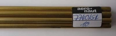 Messingrohr  5,4 / 4,5 mm, Länge 1 m, 1 Stück