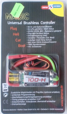 Magic 100-H, Uni versal-Brushless-Controler  -NEU-