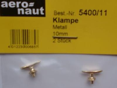 Bootsklampen, Metall brüniert 10 mm lang, 2 Stück