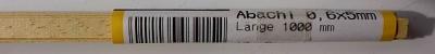 ABACHI-VierkantleistenI 0.6 x  5 mm, 1 m lang, 10 Stück
