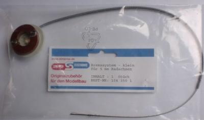 Bremssystem - klein -,  Außen-Ø 36 mm, Achs-Ø 5 mm