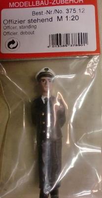 Offizier stehend, Maßstab 1:20, Höhe ca. 7 cm